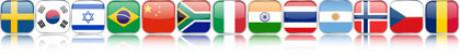 Stellvertretend für die Länder in den es Bach Chöre und Bach Orchester gibt sieht man 13 kleine Flaggen nebeneinander. An allen ist unten ein Spiegel, als ob sie schweben.