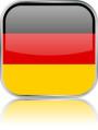 Man sieht im Bild die Flagge von Deutschland auf einen Metallbutton plus Spiegel gestaltet. In Deutschland gibt es 89 Bach Chöre, Bach Orchester oder Bach Vereine.