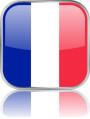 Man sieht im Bild die Flagge von Frankreich auf einen Metallbutton plus Spiegel gestaltet. In Frankreich gibt es 1 Bach Orchester.
