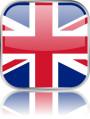 Man sieht im Bild die Flagge von Großbritannien auf einen Metallbutton plus Spiegel gestaltet. In Großbritannien gibt es 44 Bach Chöre, Bach Orchester oder Bach Vereine.