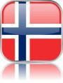 Man sieht im Bild die Flagge von Norwegen auf einen Metallbutton plus Spiegel gestaltet. In Norwegen gibt es einen Bach Chor.