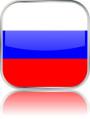 Man sieht im Bild die Flagge von Russland auf einen Metallbutton plus Spiegel gestaltet. In Russland gibt es einen Bach Chor und ein Bach Orchester.