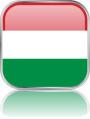 Man sieht im Bild die Flagge von Ungarn auf einen Metallbutton plus Spiegel gestaltet. In Ungarn gibt es einen Bach Verein.