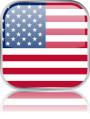 Man sieht im Bild die Flagge der USA auf einen Metallbutton plus Spiegel gestaltet. In den USA gibt es 37 Bach Chöre, Bach Orchester oder Bach Vereine.