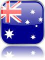 Man sieht im Bild die Flagge von Neuseeland auf einen Metallbutton gestaltet. In Neuseeland sind 4 Bach Chöre, Bach Orchester oder Bach Vereine.