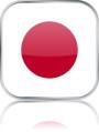 Man sieht im Bild die Flagge von Japan auf einen Metallbutton plus Spiegel gestaltet. In Japan gibt es 2 Bach Chöre und Bach Orchester.