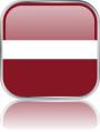 Man sieht im Bild die Flagge von Lettland auf einen Metallbutton plus Spiegel gestaltet. In Lettland gibt es 1 Bach Chor.