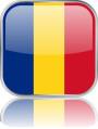 Man sieht im Bild die Flagge von Rumänien auf einen Metallbutton plus Spiegel gestaltet. In Rumänien gibt es einen Bach Chor.