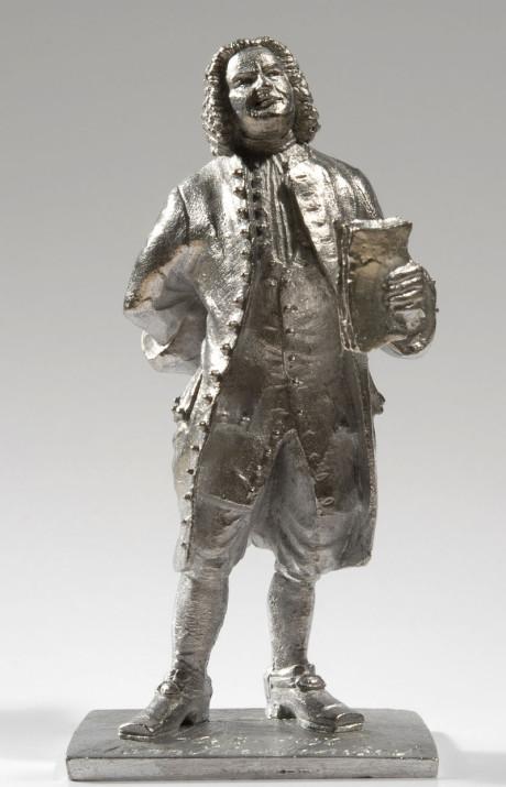 Johann Sebastian Bach als Zinnfigur. Als vollplastische Zinnfigur