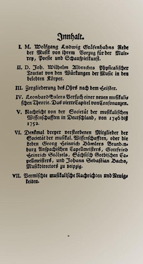 jahrhunderts mit dem namen musikalische bibliothek in ihr wurde der auch nekrolog ber johann sebastian bach verffentlicht geschrieben wurde er 1750