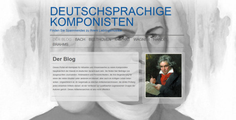 Der Komponist ist eine neue Homepage, die Neuigkeiten zu den verschiedensten klasssichen Komponisten zusammenfasst.