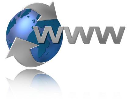 Das Bild zu den 10 Top Homepages über Johann Sebastian Bach ist eine Illustration einer schwebenden Erde in grau und blau, man sieht zwei Pfeile um den Erdball und die Buchstaben WWW.