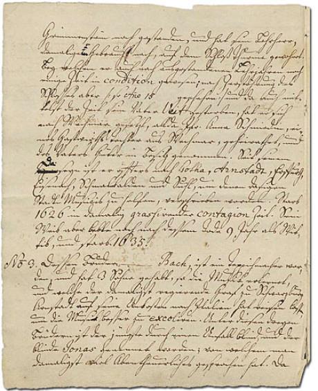 Man im Bild sieht die zweite Seite des alten Ursprung, die obere Seitenhälfte behandelt die laufende Nummer 2, in der unteren Hälfte beginnt die No. 3.