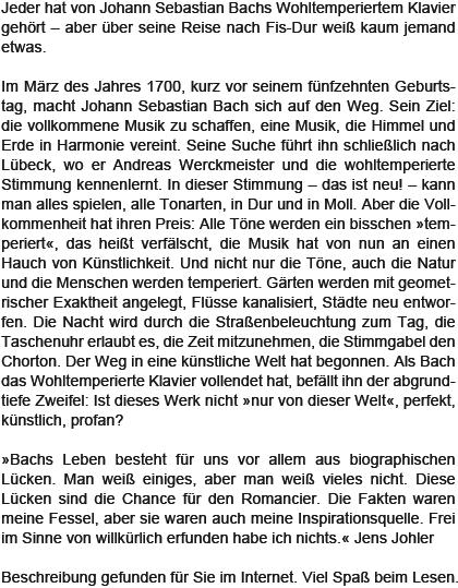 erscheinungstermin januar 2013 - Johann Sebastian Bach Lebenslauf