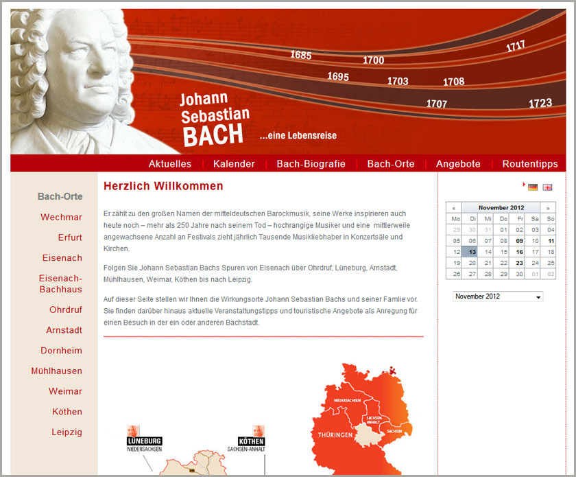 Homepages über Bach? Top 10 der coolsten Bach-Homepages