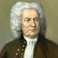 Das Altersbil von Johann Sebastian Bach, nachgemalt.