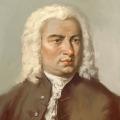 Ein seltenes Bild von Bach in Öl.