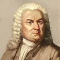 Ein Bach-Portrait in Brauntönen.